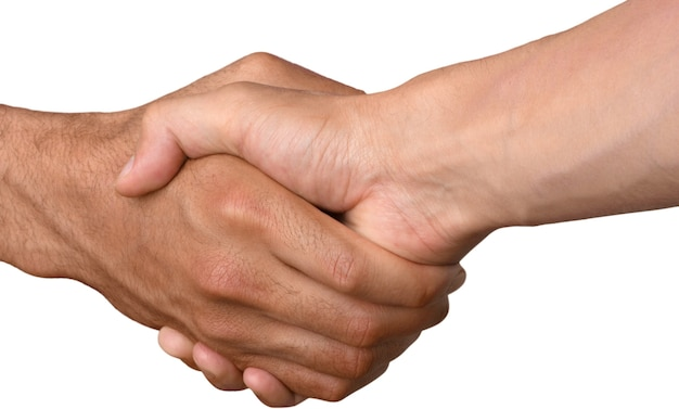 握手する2人の男性のクローズアップ
