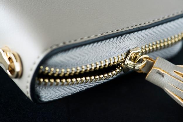 財布のクローズアップ