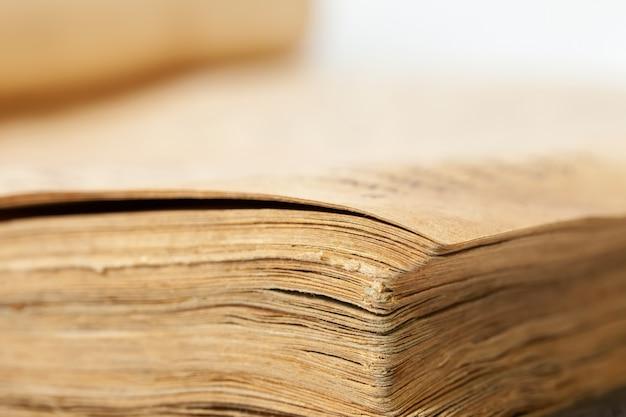 Closeup of old book