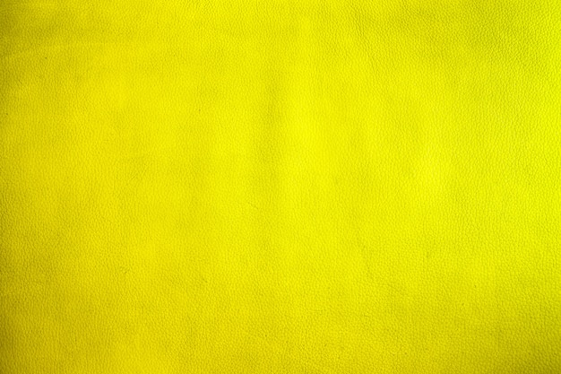 Closeup on old yellow leather and texture background