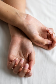 Closeup of a pair of female hands