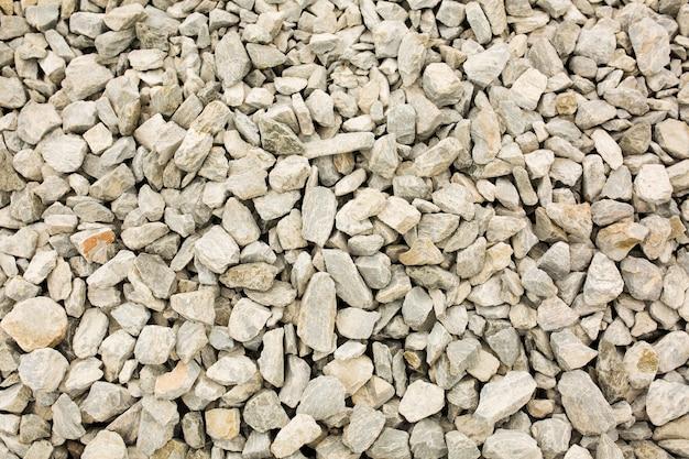 Closeup photo of crushed granite rocks