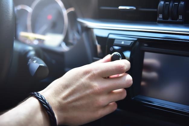 자동차 제어판의 근접 촬영 사진, 근접 촬영 사진