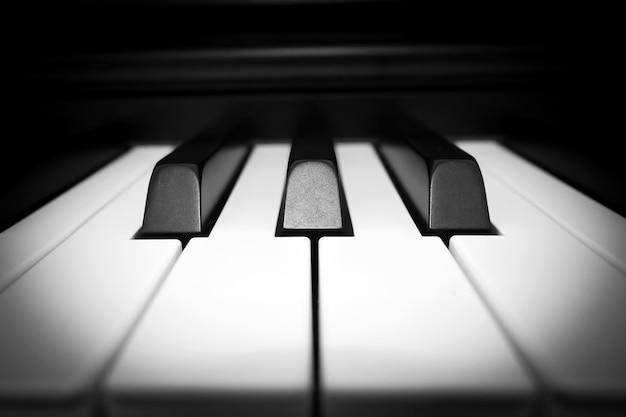 Closeup piano key.
