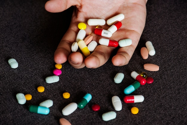 Closeup of pills
