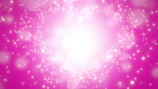 Крупным планом розовые сердца любви, свадебный фон. элегантная и роскошная трехмерная иллюстрация в пастельном стиле