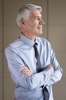 Closeup portrait of senior content business leader
