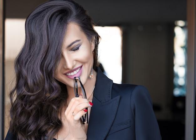 Closeup portrait of a smiling businesswoman.