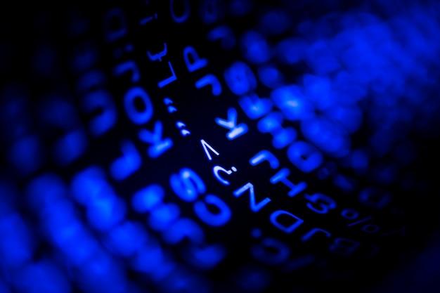 Primo piano del codice e del linguaggio di programmazione