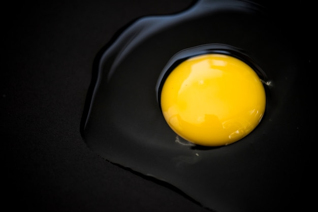 Closeup of raw egg