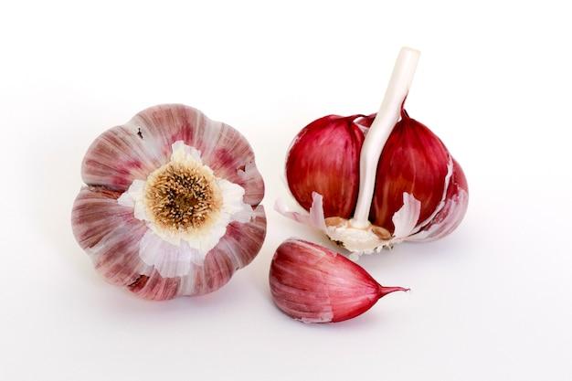 Closeup of raw garlic bulb