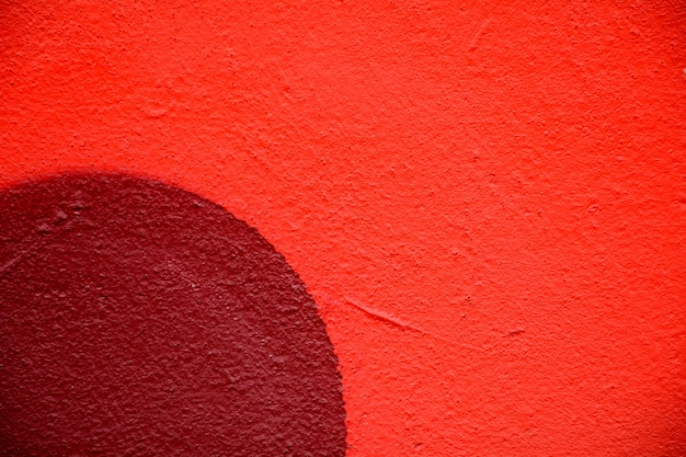 Closeup of red cement wall