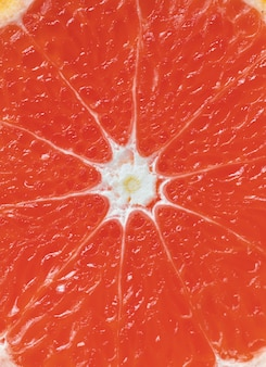 Closeup of red citrus blood orange