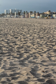 Closeup of sand at a beach in california