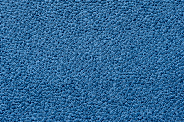 Closeup of seamless blue leather texture for background