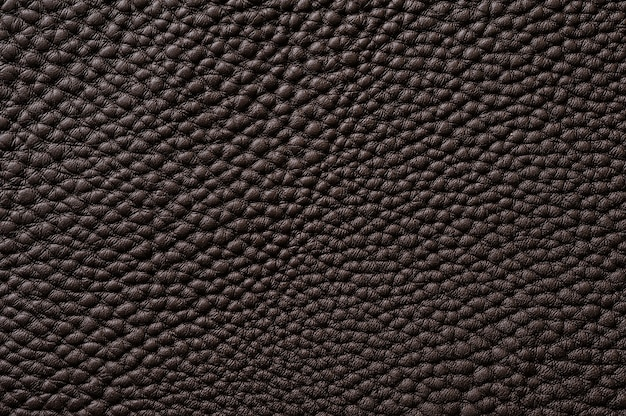 Closeup of seamless brown leather texture for background
