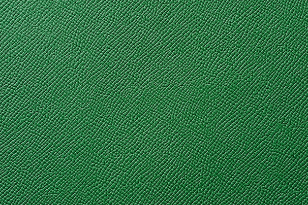 Closeup of seamless green leather texture for background