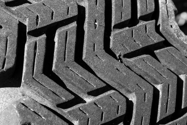 Closeup shot of black wheel tire texture