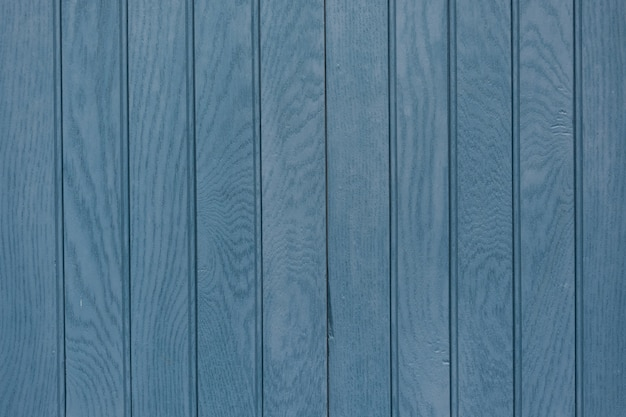 Closeup shot of blue plank wooden background