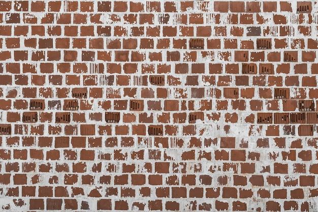 Colpo del primo piano dello sfondo del muro di mattoni