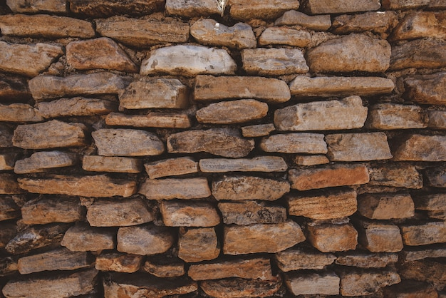 Closeup shot of a brick wall