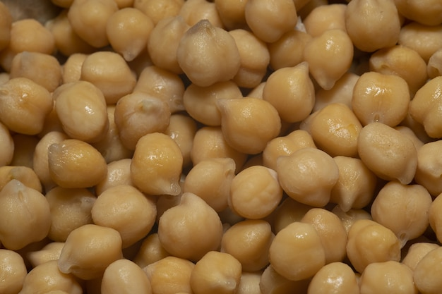 Closeup shot of the cooked chickpea high protein seeds