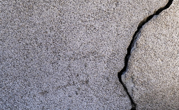 Closeup shot of a crack in a concrete wall