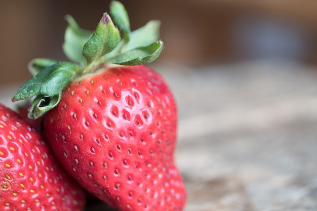 Closeup shot of fresh ripe strawberries
