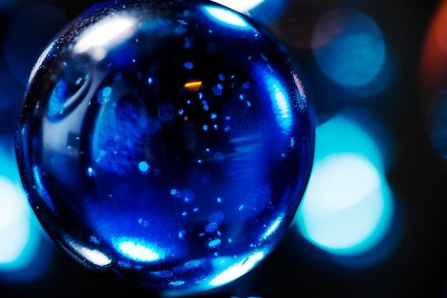 Closeup shot of glass marbles