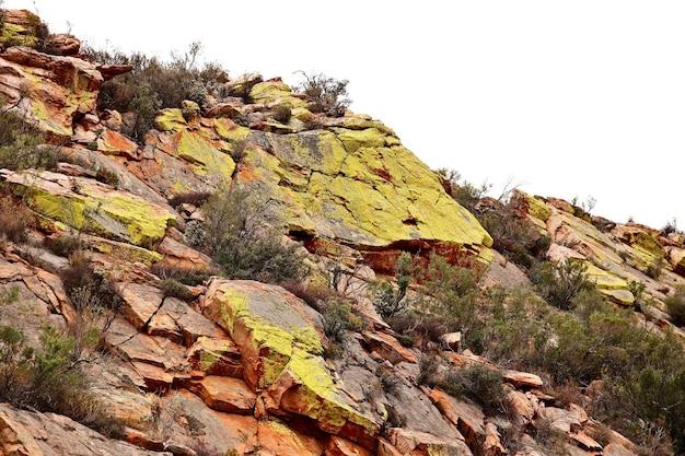 田舎の岩の形成のクローズアップショット