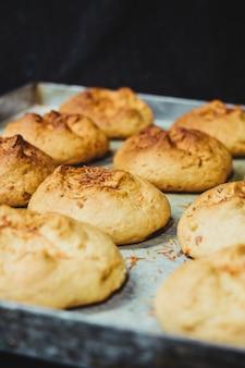 焼きたてのクッキーのクローズアップショット