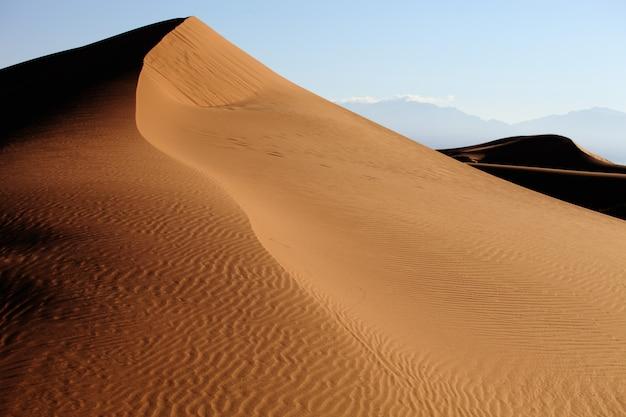 中国西江の砂丘のクローズアップショット