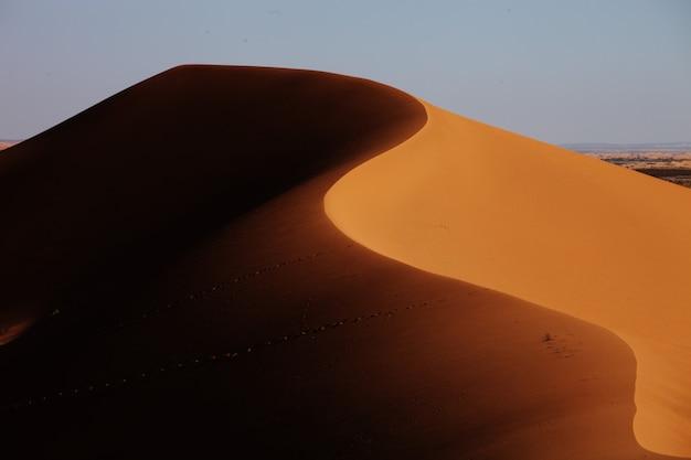 Closeup shot of sand dunes in xijiang, china