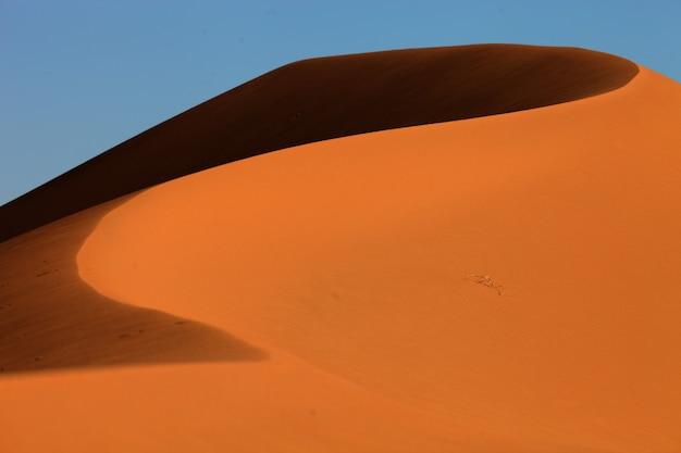 Primo piano delle dune di sabbia a xijiang, cina