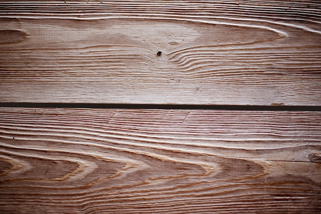 Closeup shot of wall made of horizontal brown wooden planks -perfect for cool wallpaper