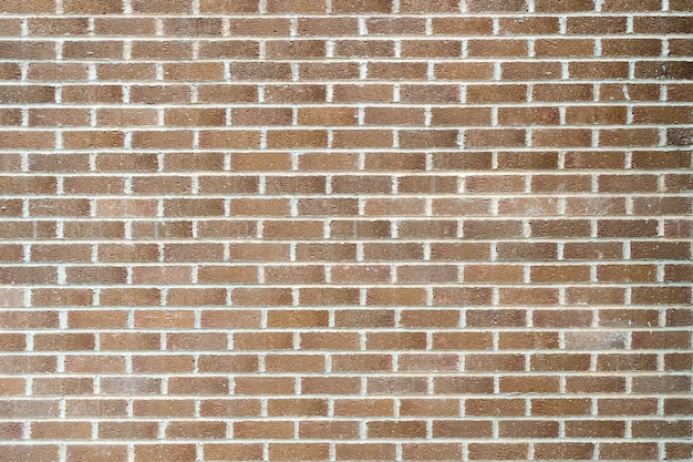 Closeup shot of a wall made of rectangular bricks