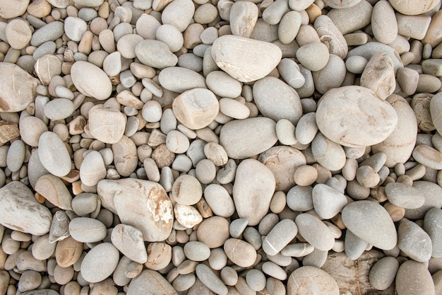 Closeup shot of white small pebbles-background
