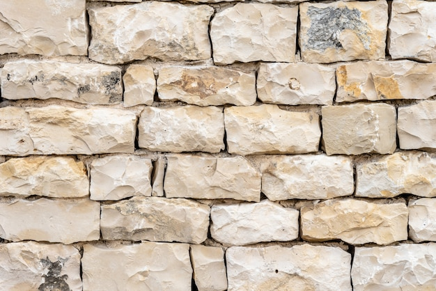 Closeup shot of a white stone wall- a good background