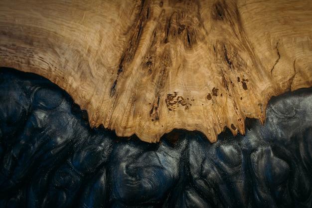 Closeup colpo di legno e nero
