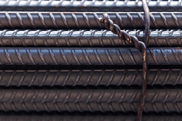 Closeup steel bars