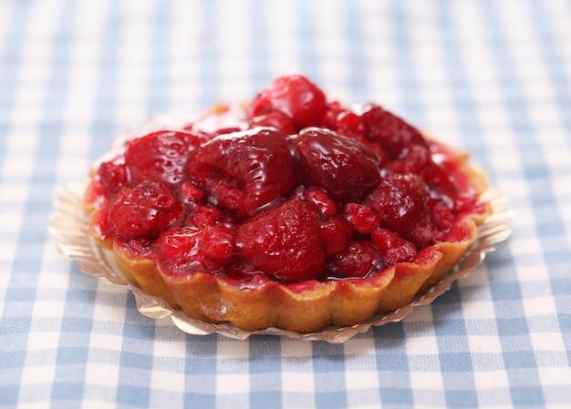 Closeup  of strawberry cake