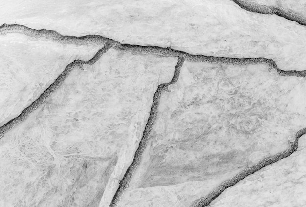 Closeup surface cracked marble stone floor texture background