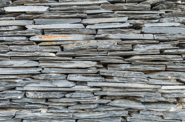 Closeup surface gray stone wall texture background