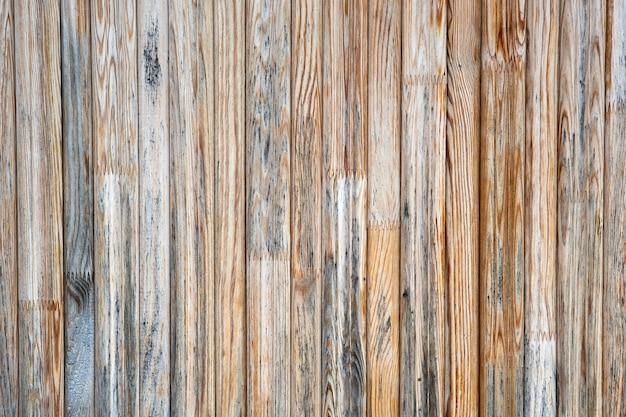 古い風化した木の板の表面をクローズアップ。