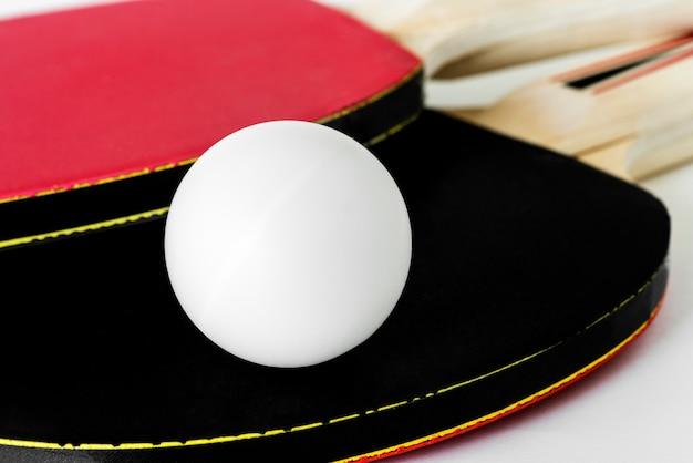 Closeup of table tennis stuff