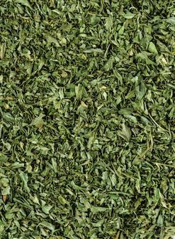 Closeup of tea leaf