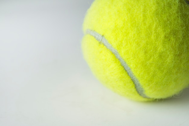 Closeup of tennis ball