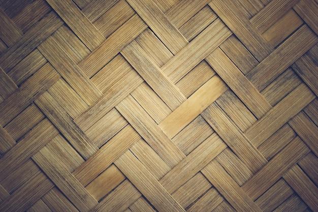 Closeup texture mats made of bamboo