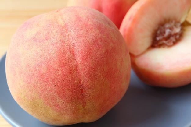 Макрофотография текстуры кожи свежего спелого персика