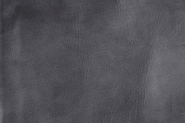 Closeup textured grey leather background, small grain and wrinkly